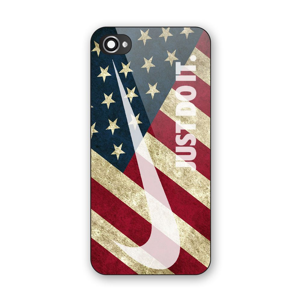 Vintage Nike Just Do It American Flag Hard Plastic Case For Iphone 6s Low Price Iphone Cases Ipod Touch 6 Cases American Flag Case