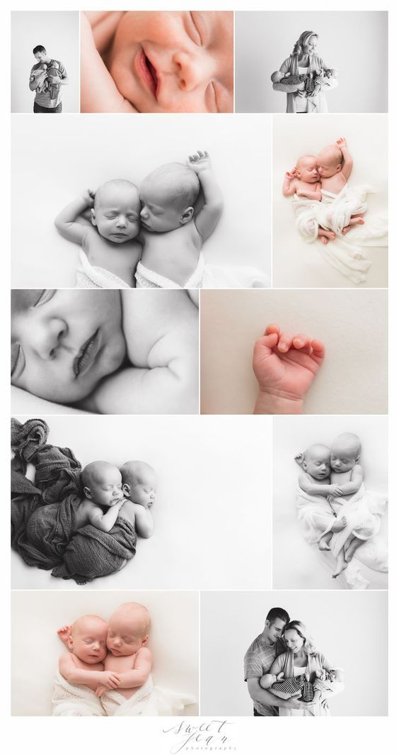 Newborn Twin Portrait Session Newborn Photography  Natural newborn photography