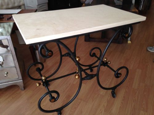19 Century French Bakers Table In Antiques, Furniture, Tables,