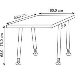 Photo of Hammerbacher As08 höhenverstellbarer Schreibtisch weiß quadratisch Hammerbacher