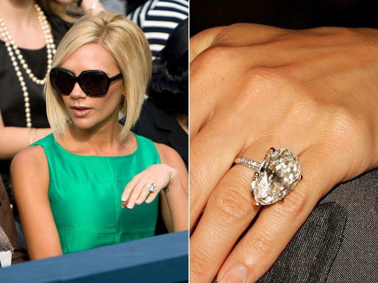 Victoria Beckhams engagement ring is a stunner Ode to Vintage