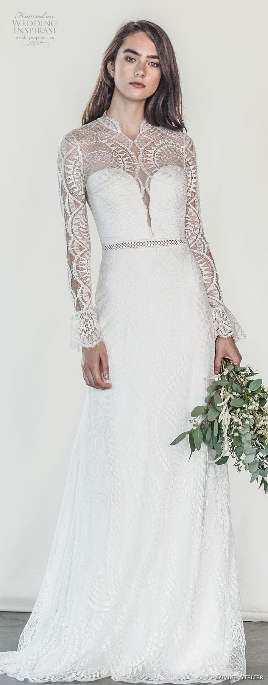 Divine atelier wedding dresses illusions bodice and wedding