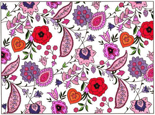 Paisley Designs Coloring Book Dover Design Books Marty Noble By Lady