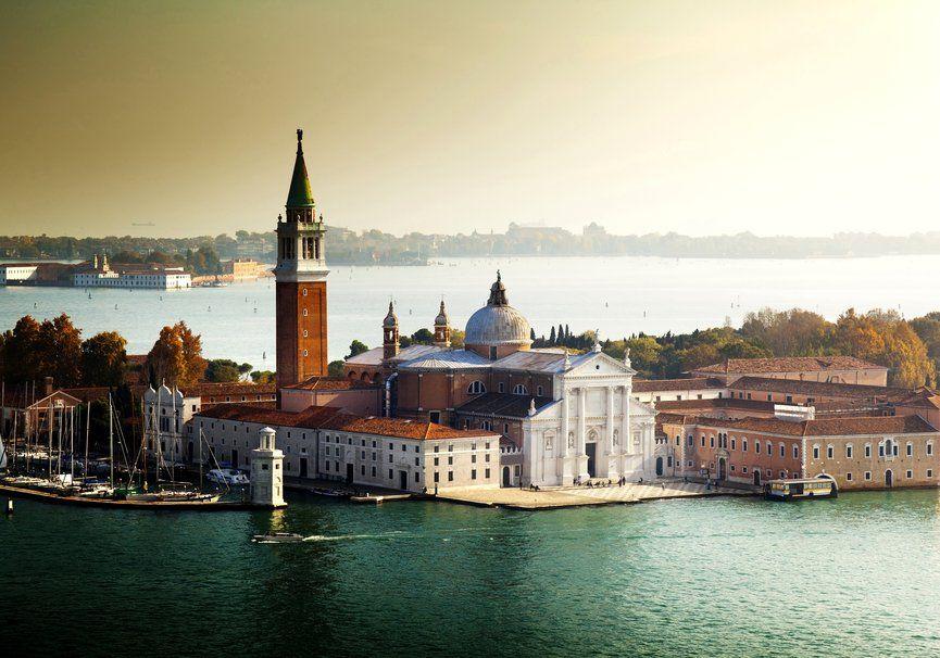 Veneza, Itália, Veneza, Itália, cidade, água, arquitetura, mar, barcos, edifícios, árvores Vetor