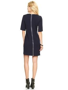 Full Back Zip Dress Gap