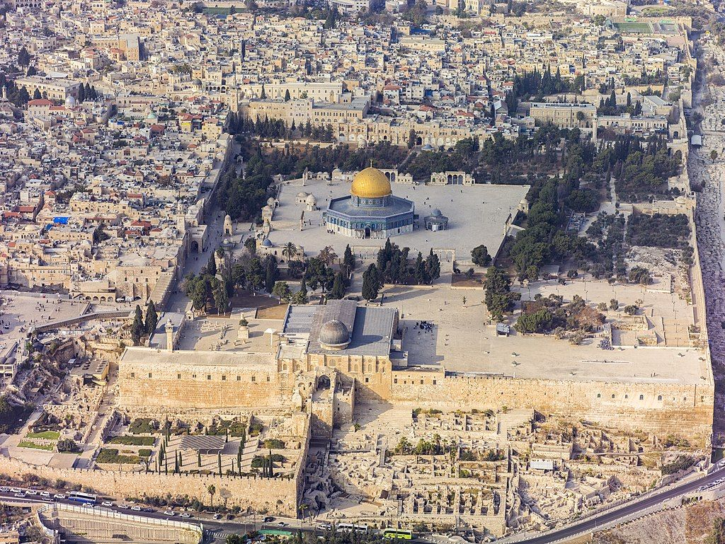 Jerusalem was the city to which Jesus was brought as a child, to be presented at the Temple and to attend festivals. … | Aerial view, Temple mount, Places to visit