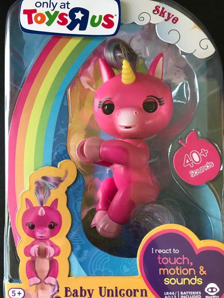 Wowwee Fingerlings Skye Pink Baby Unicorn Toys R Us Exclusive New Baby Unicorn Unicorn Toys Toys