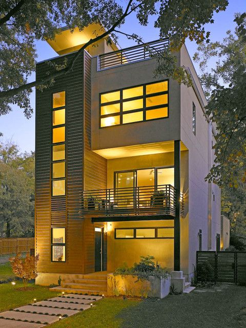 Modern 3 Story Home On Houzz Com Small House Architecture Facade House Modern House Plans