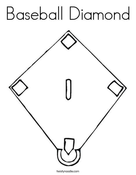 Baseball Diamond Coloring Page Shape Coloring Pages Diamond