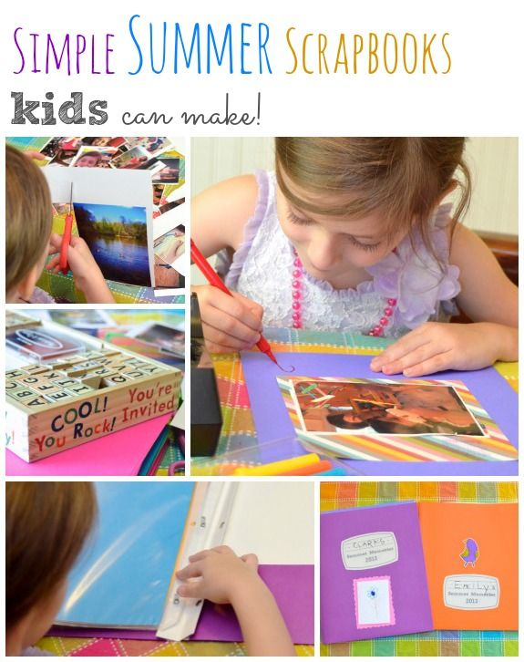 Simple Summer Scrapbooks Kids Can Make Reading Writing Readiness