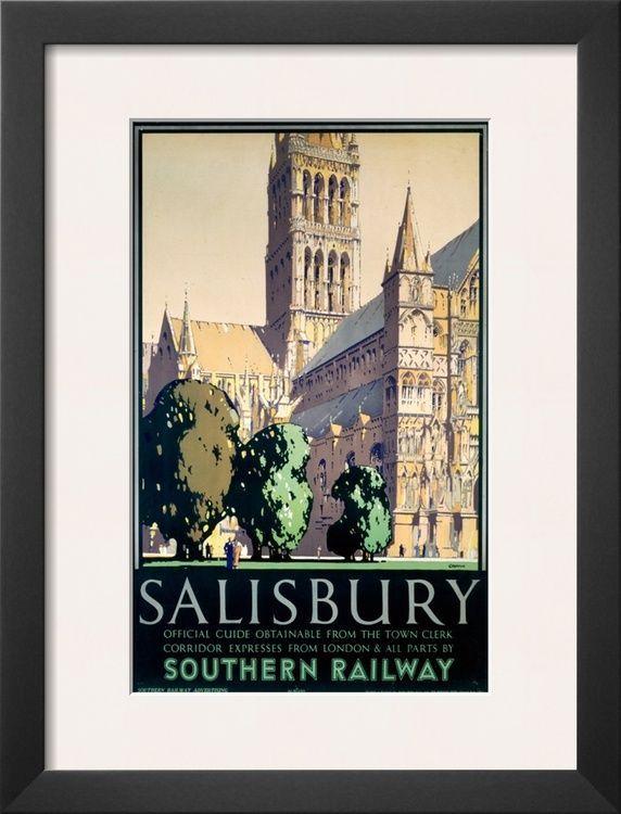 Salisbury Framed Art Poster Print 14x18 Framed Art Poster Poster Vintage Poster Art