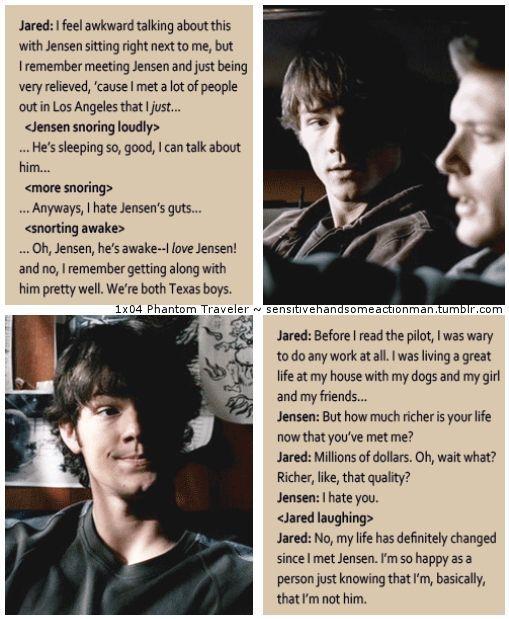 Jensen and Jared <3 XD