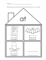 Word Family Houses #Free #Printable #Worksheets from Mrs