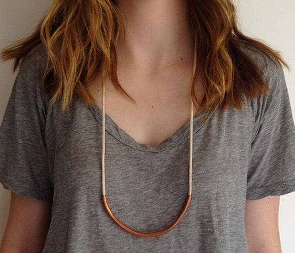 Copper Bar Necklace