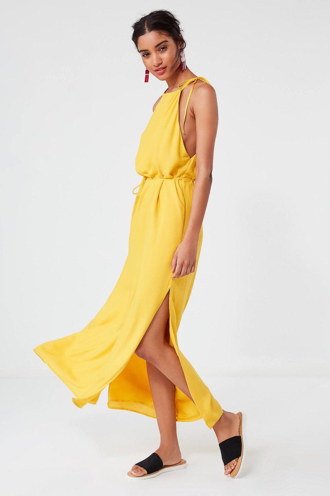 UO Blaze High-Neck Maxi Dress   Pinterest