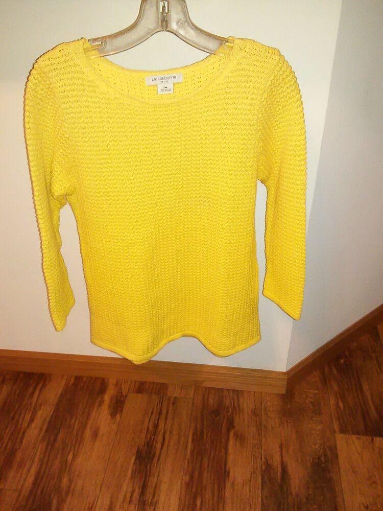 Liz Claiborne Cardigan Sweater Petite Small Red And Black 100% Wool Panties