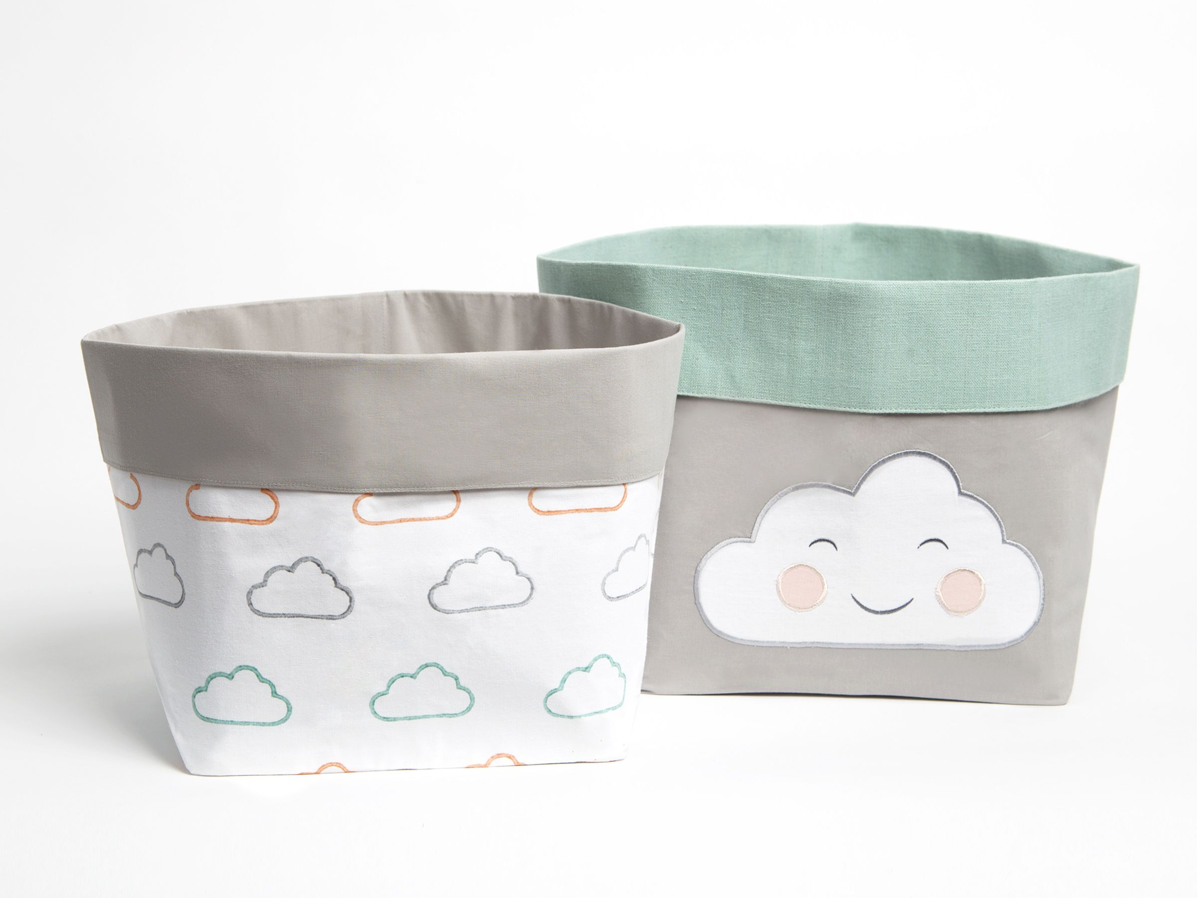 Hy Cloud Pink Fabric Storage Baskets Nursery