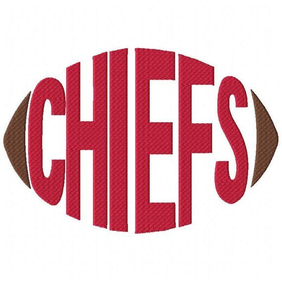 Chiefs Football - Embroidery Design - Word Art - Word Design - 5x7 Hoop - 6x10 Hoop - Instant Download - Football - Spirit Towels - Sports