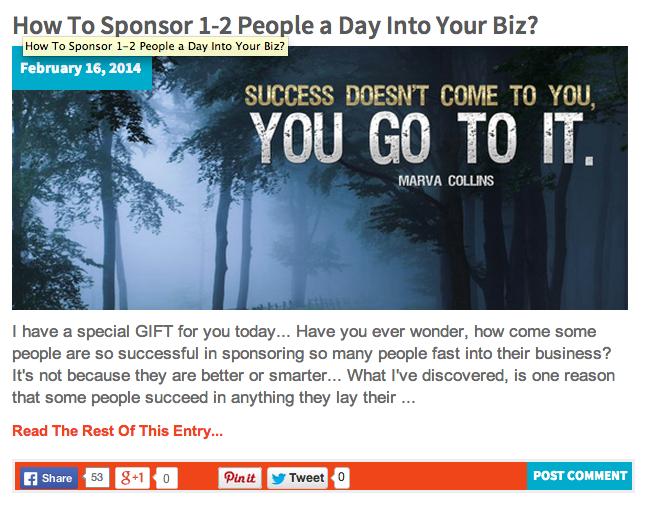 How To Sponsor 1-2 People a Day Into Your Biz? http://katielendel.com/sponsor-1-2-people-day-biz/