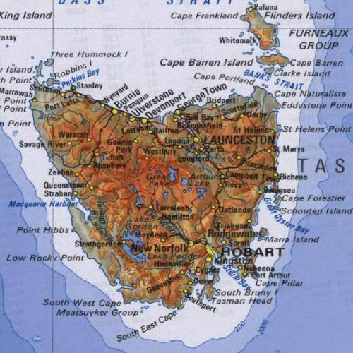 Map Of Australia King Island.Map Of Tasmania Australia New Zealand Tasmania Australia Map