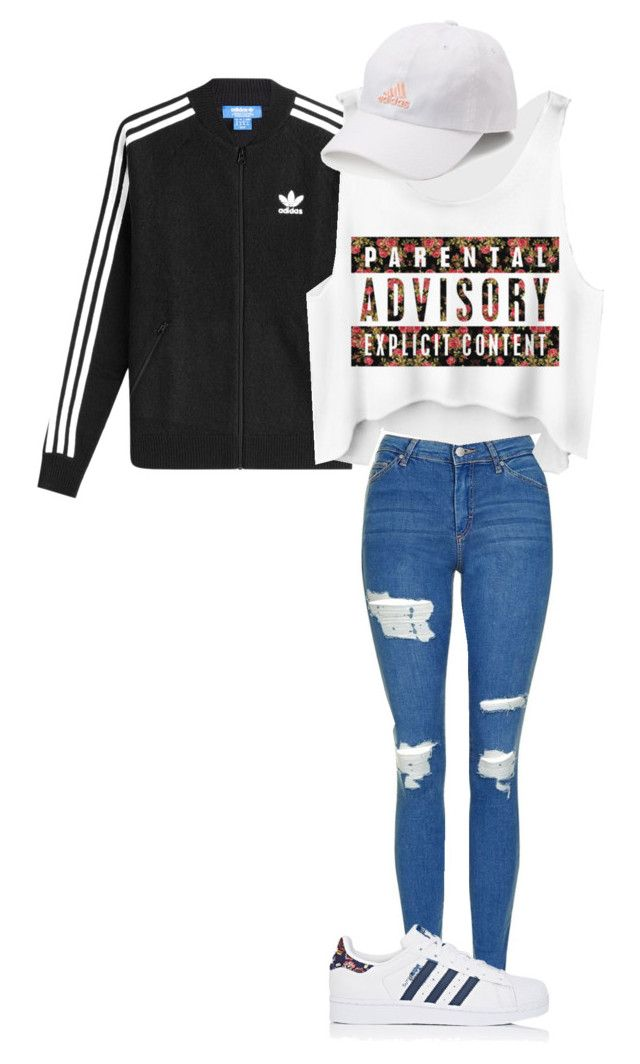 """Outfit 26"" by kingkaitelin15 ❤ liked on Polyvore featuring adidas and Topshop"