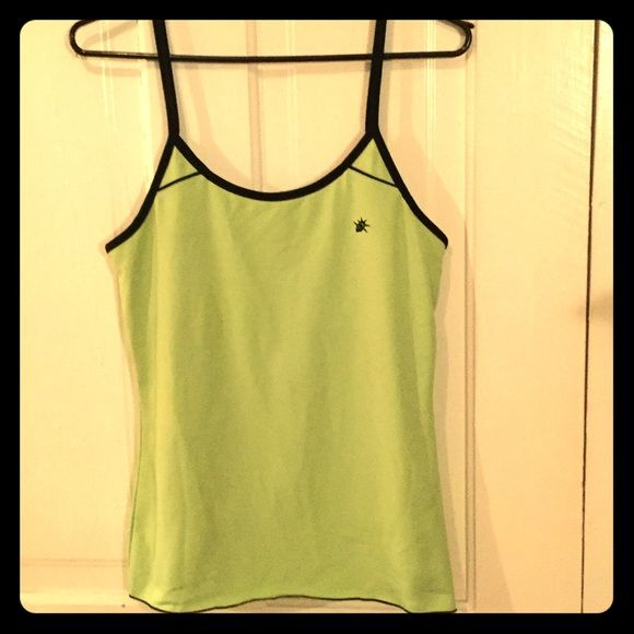 So Sporty Green Work Out Tank. Size L. New! So Sporty Green with Black Trim Work Out Tank. Size Large. Built in support shelf bra. Brand New! So Sporty Tops Camisoles