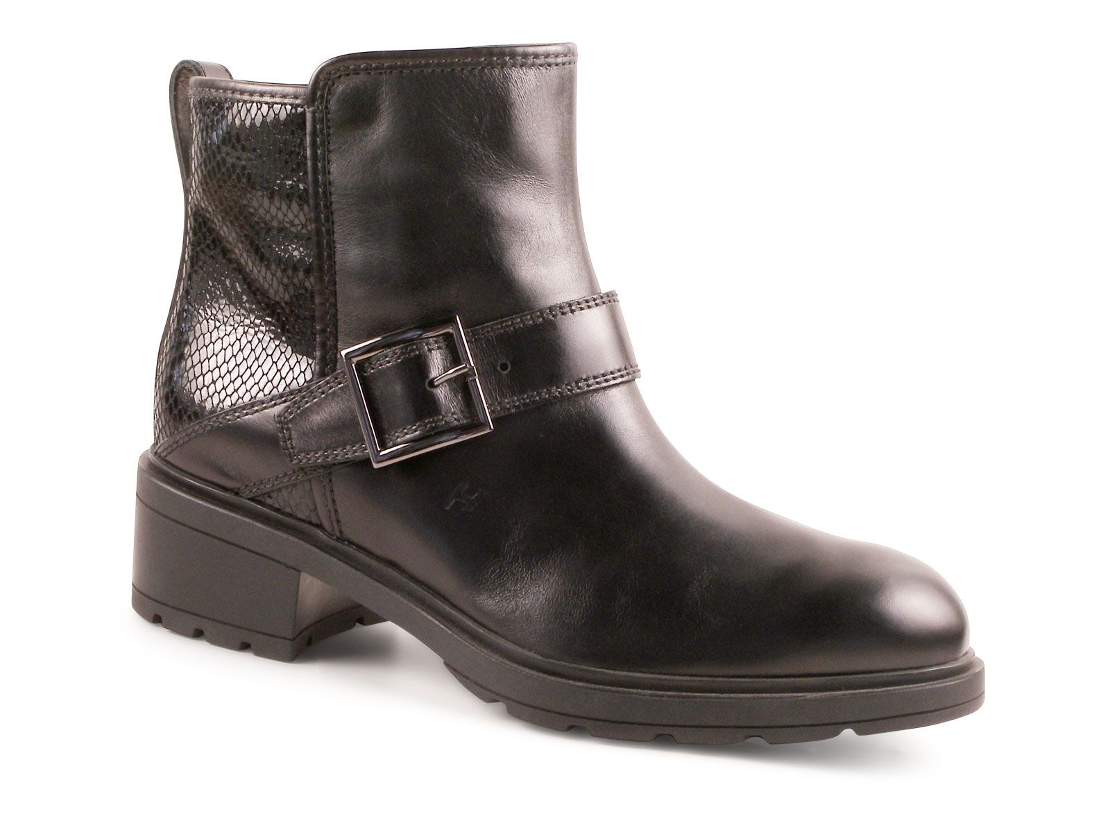 Hogan H222 womens sneakers in metallic shiny leather. Black Leather Ankle  BootsPythonWomen's Shoes