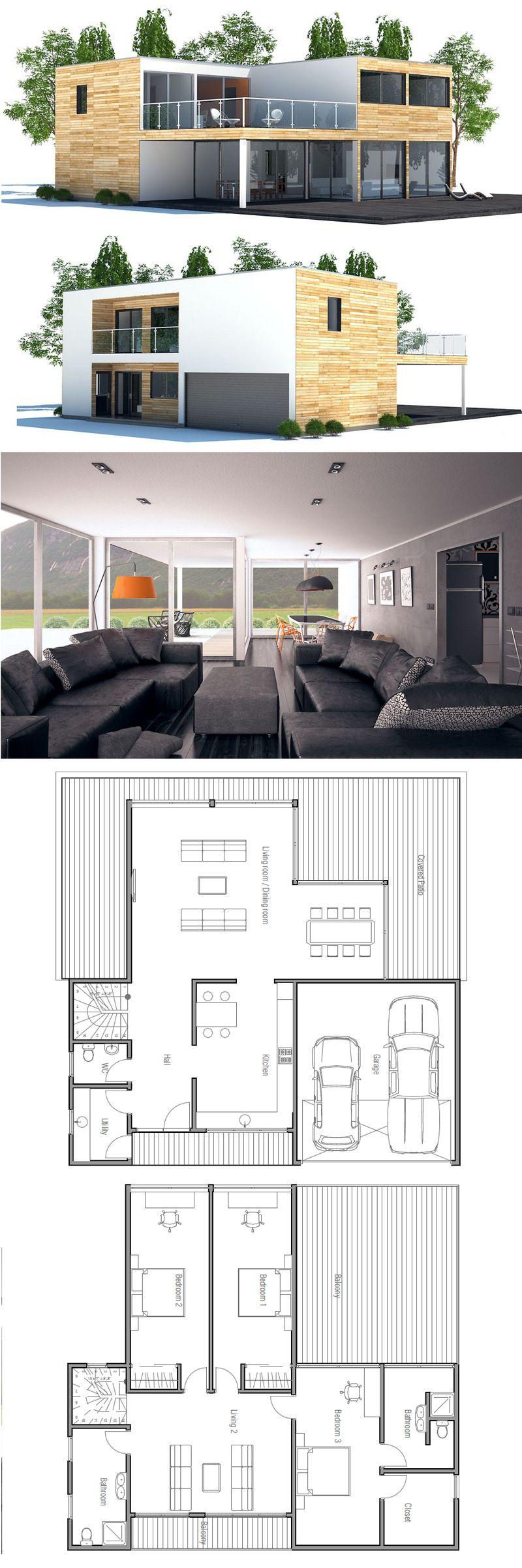Casa 2 plantas planta baja concocina independiente for Minimalist container house