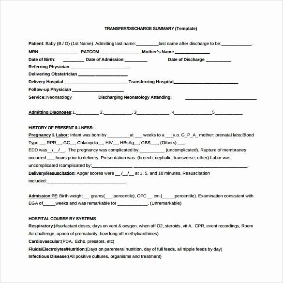 30 Patient Discharge form Template in 2020 Templates