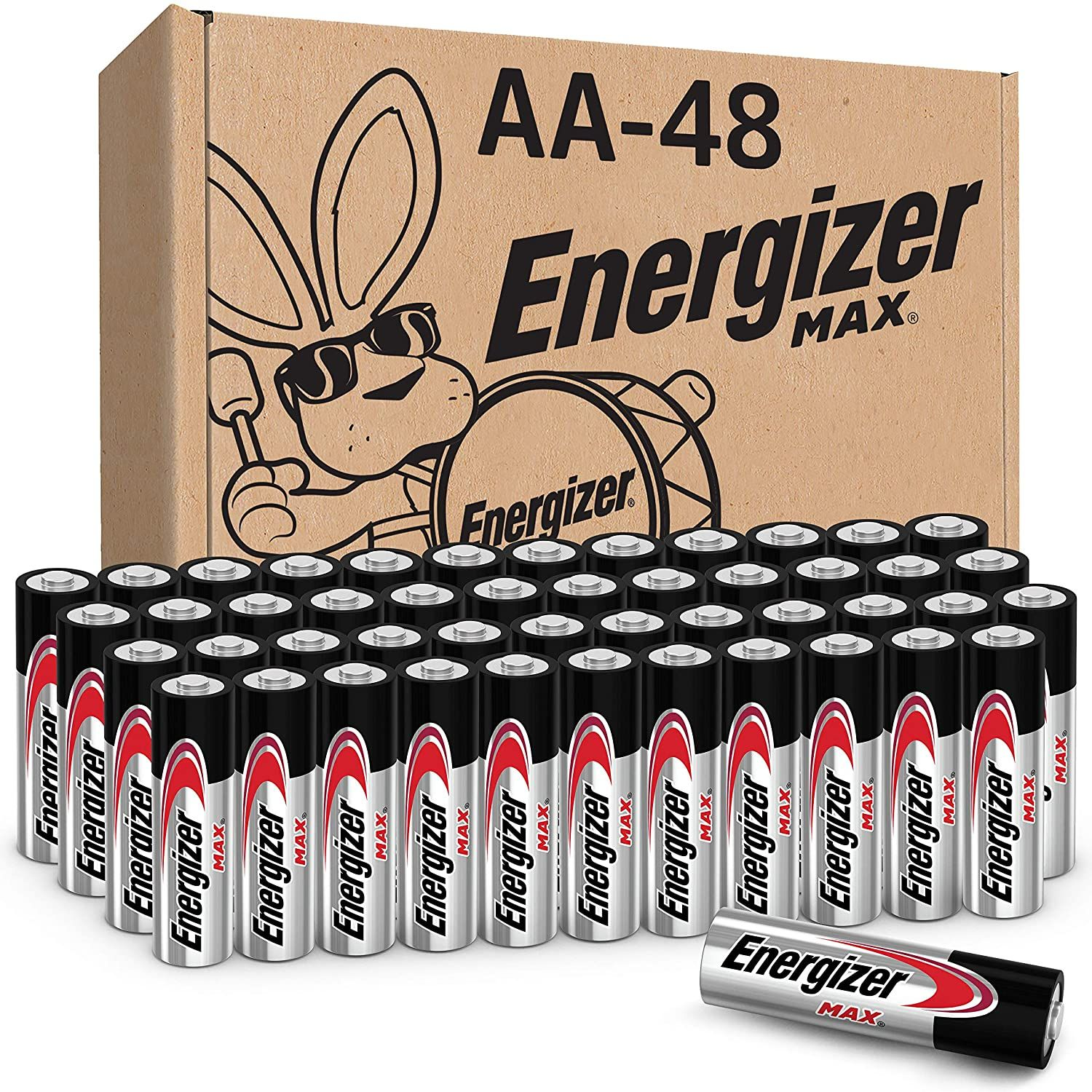 Energizer Aa Batteries 48 Count Double A Max Alkaline Battery In 2020 Energizer Battery Alkaline Battery Energizer