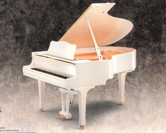 Resultado De Imagen Para Piano De Cola Blanco Elegante Piano Piano De Cola Instrumentos Musicales