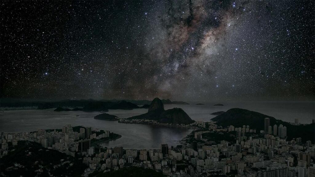 WorldAndScience: This would be Rio de Janeiro at night if there were no light pollution! - (By Thierry Cohen) https://t.co/vf5OUvbTUH