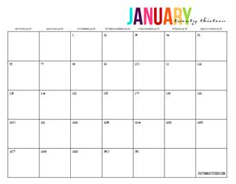 Printable Monthly Calendars   Print     First Aid