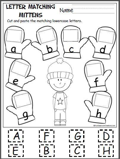 mitten matching letters a h 1st grade chronicles preschool worksheets preschool preschool. Black Bedroom Furniture Sets. Home Design Ideas