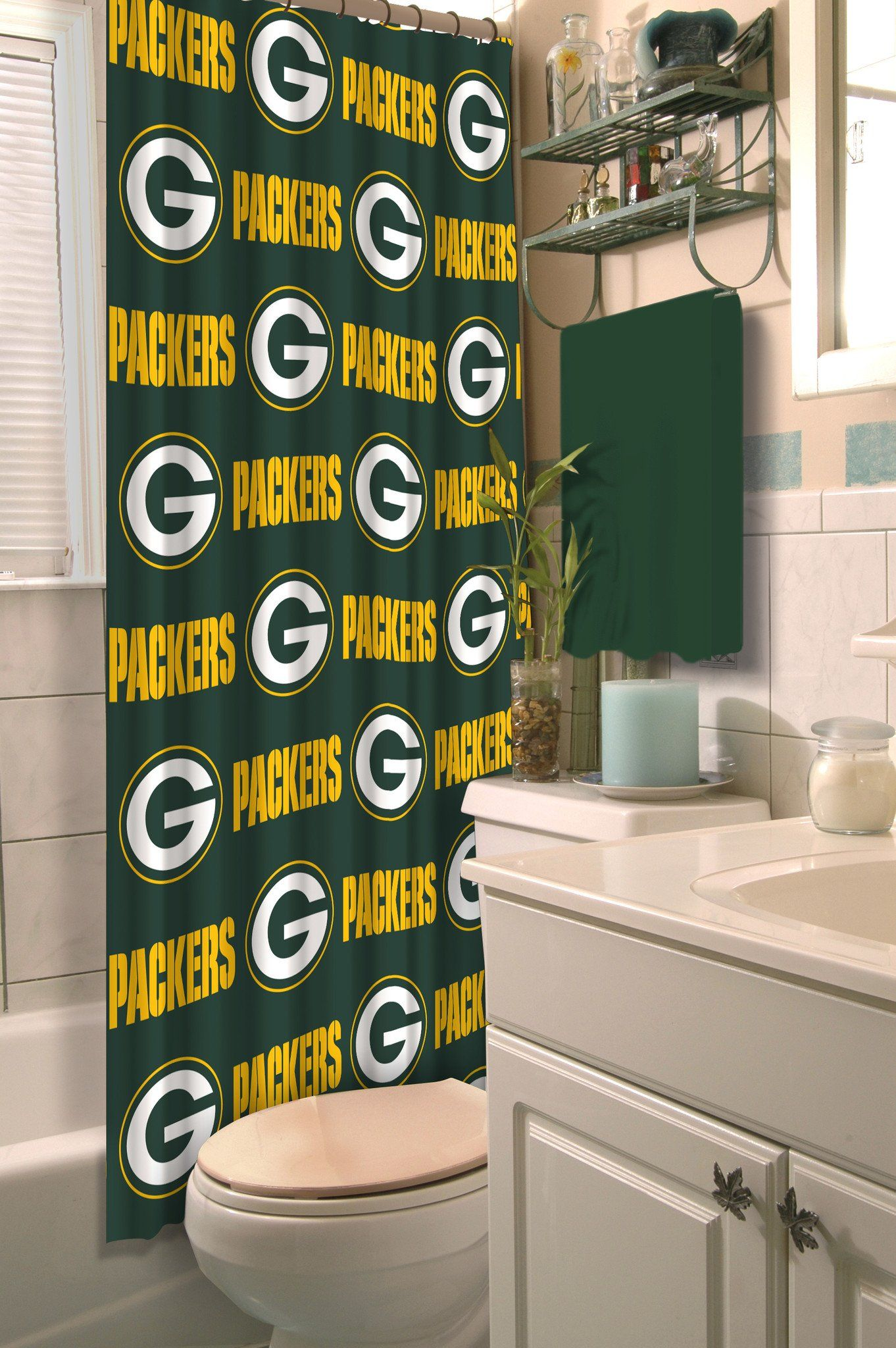 Packers Shower Curtain Shower Shower Curtain Nfl Packers