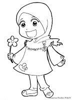 Anak Soleha Gambar Warna Kartun