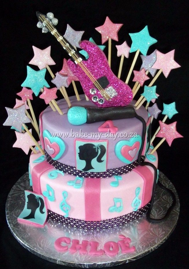 Pin by Leah Hagan on cake ideas!! Pinterest Amazing cakes - best of coloring pages barbie rockstar
