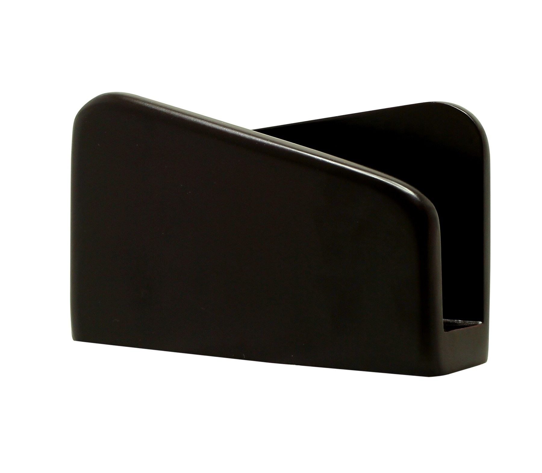 Contemporary Elegance Handmade 5 4 Black Wood Tissue Napkin Holder In Chic Style