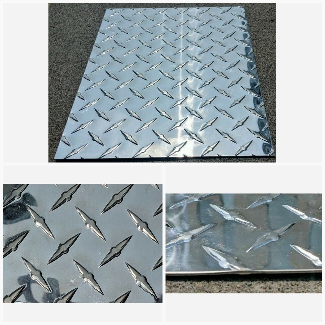 Aluminum Diamond Tread Plate Sheet 12 X 12 3003 063 16 Diamond Plate Aluminium Sheet Aluminum