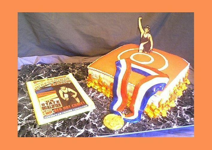 Wrestler Graduation Cake Wrestling Cake Graduation Cakes