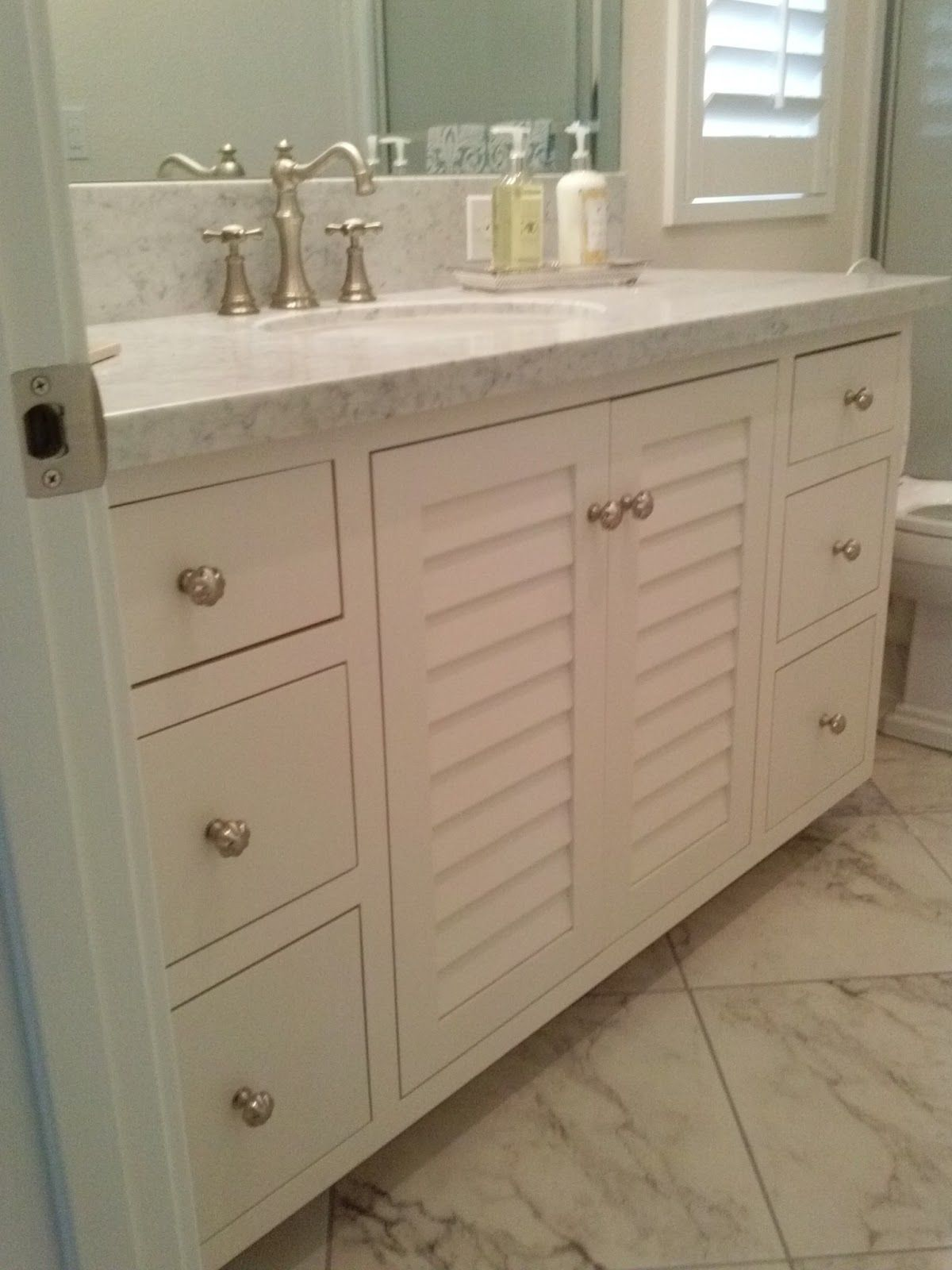 Reloved Rubbish Whitewash Ideas For The House Pinterest Coco - Louvered door bathroom vanity