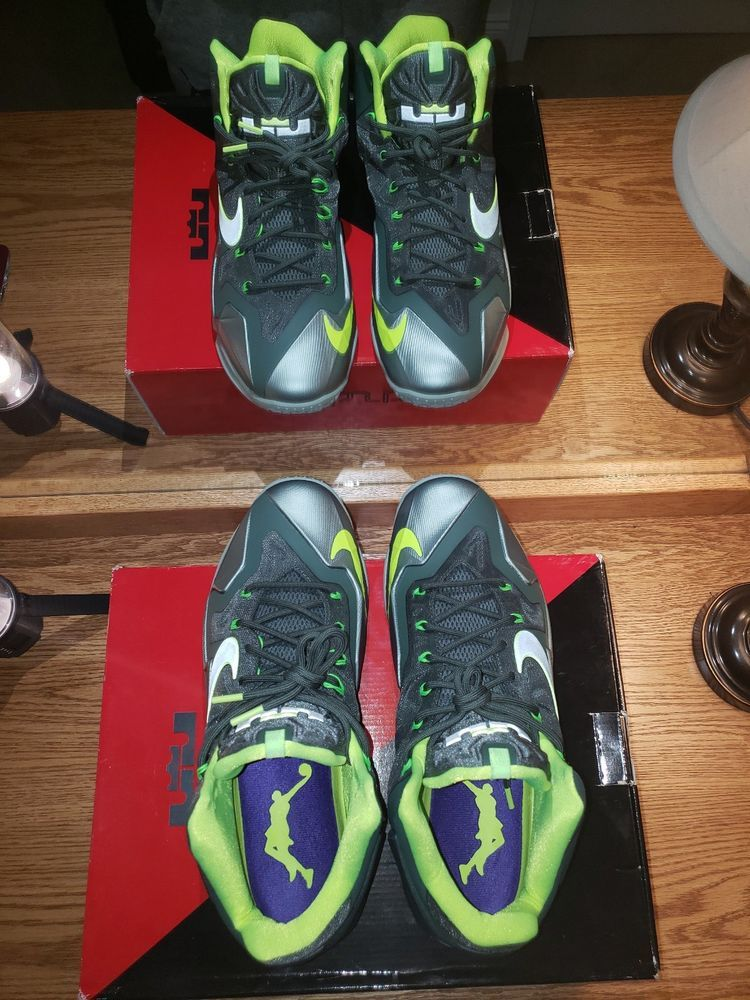 reputable site 60755 79a6c ... dunkman d8e92 42baf  purchase nike lebron xi 11 mica green sea spray  volt mens basketball shoes 616175 b9b82 5861c