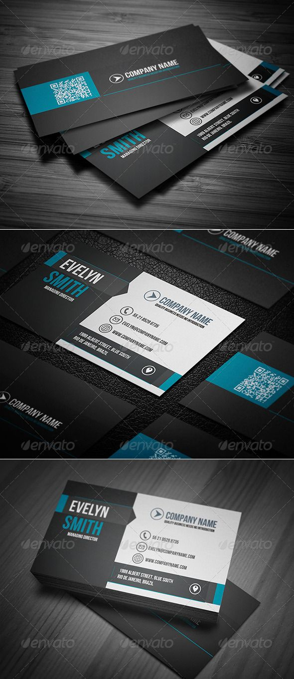 Clean Business Card | Business cards, Business card psd and Print ...