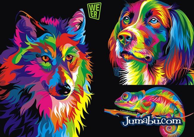 Excelentes Ilustraciones De Animales En Vectores Super Coloridos Jumabu Design Tools Vec Ilustraciones De Animales Animales Vectoriales Dibujo De Animales
