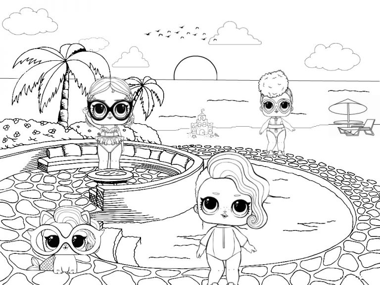 Lol Bebek Boyama Sayfalari Coloring Pages Cartoon Coloring Pages Lol Dolls