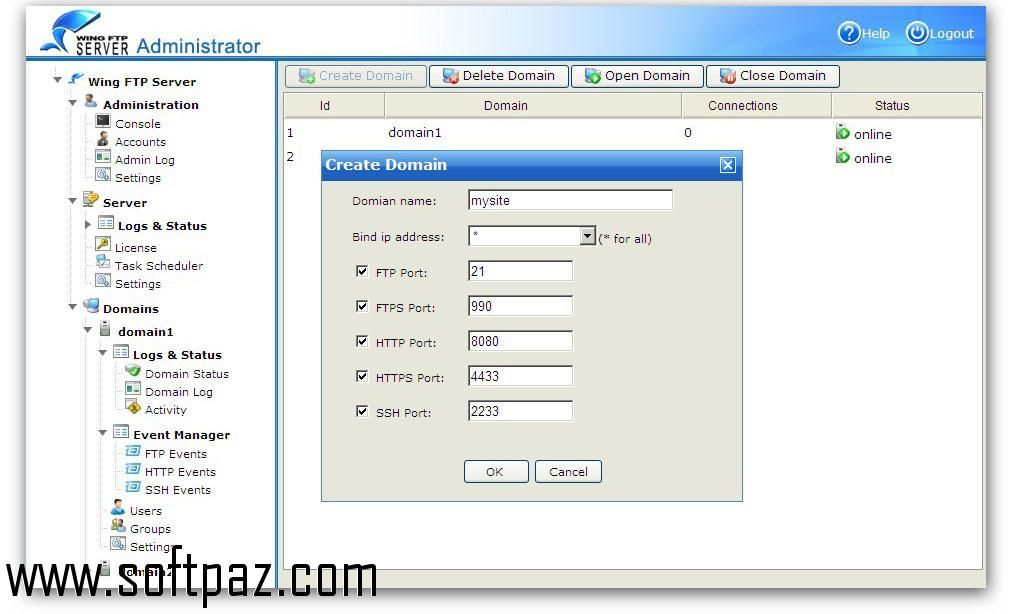 Download Wing FTP Server For Solaris(Sparc) windows