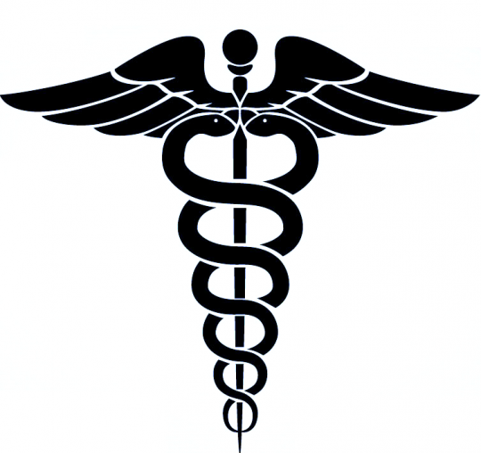 medicalwings medical icon vector logo with serpent