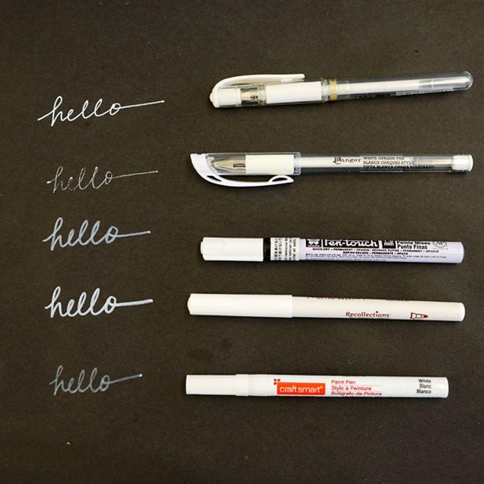 The Best White Pens For Black Paper White Pen Black