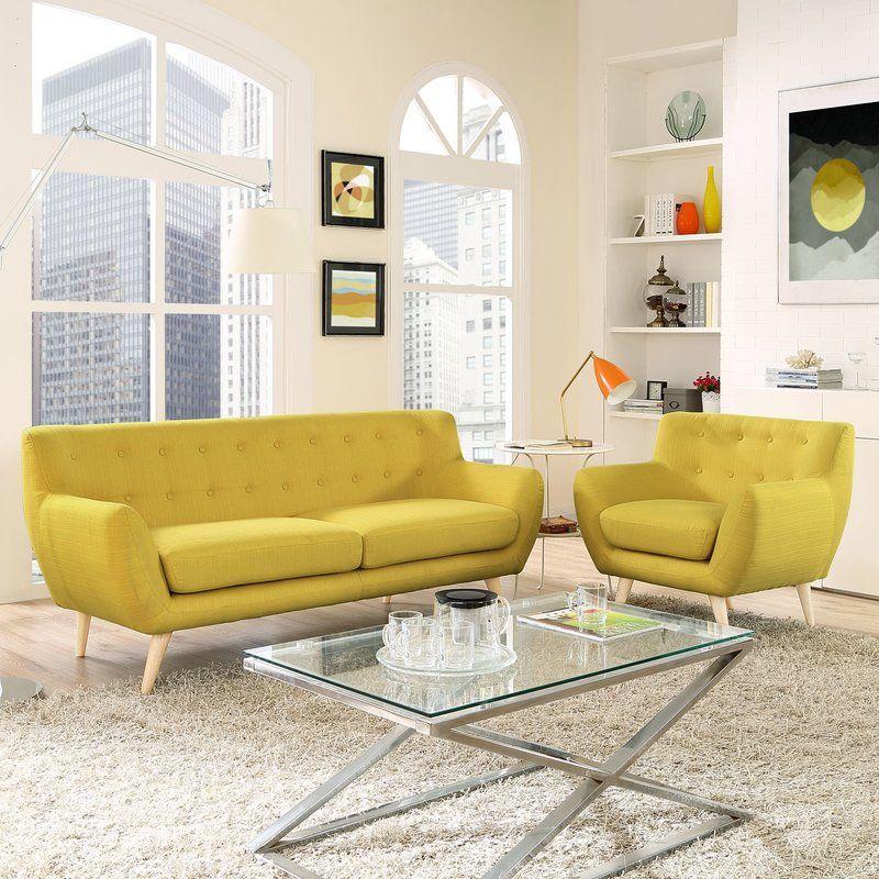 Meggie 2 Piece Living Room Set Living Room Sets Living Room Sofa Set Modern Style Living Room