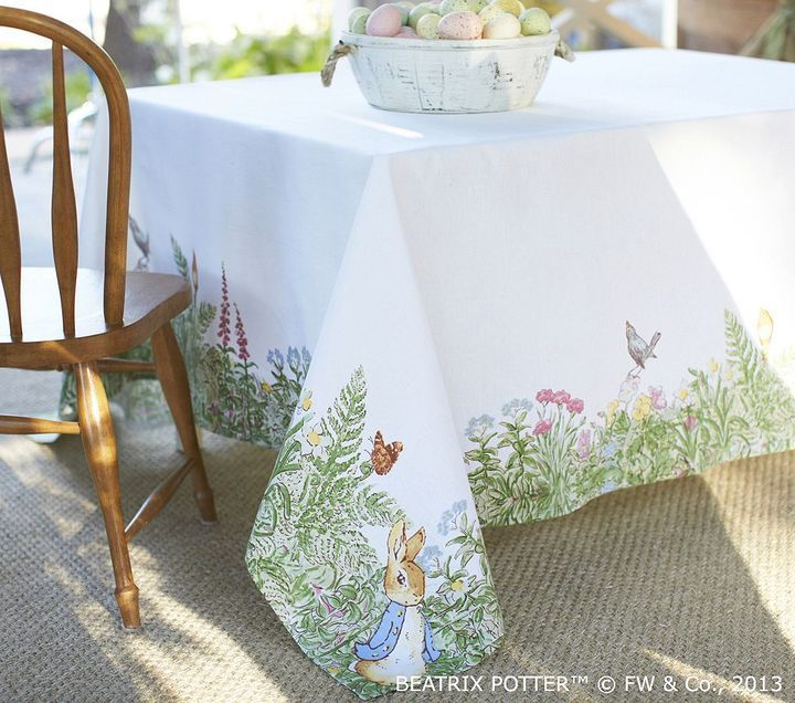 Peter Rabbit Inspired Easter Event With Pottery Barn Kids: Pottery Barn Kids Peter Rabbit Tablecloth In 2019